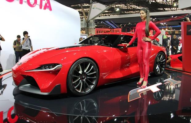 Toyota FT-1 no Salão do Automóvel 2014 (Foto: Fabio Aro/Autoesporte)