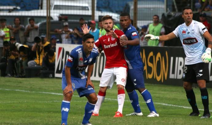 Emelec x Internacional Eduardo Sasha Internacional Libertadores (Foto: Diego Guichard/GloboEsporte.com)
