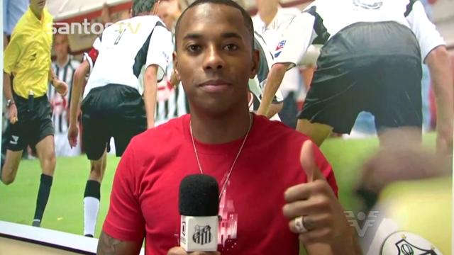 Robinho não é mais jogador do Santos (Foto: Reprodução/TV Tribuna)
