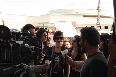 Mel Lisboa grava em Ribeirão Preto o piloto da série independente 'A herança' (Foto: Bruno Tarpani)