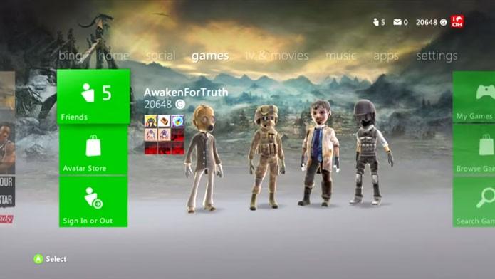 O tema de Skyrim também está entre os melhores do Xbox 360 (Foto: Reprodução/Youtube)