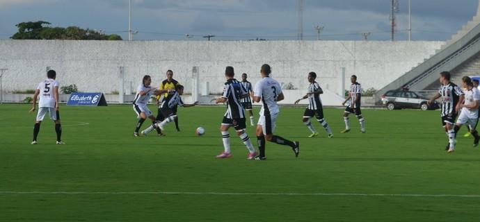 Botafogo-PB x Treze, no Campeonato Paraibano (Foto: Juliana Bandeira / GloboEsporte.com/pb)