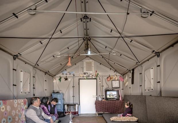 Ikea constrói melhores abrigos para refugiados em acampamentos, como este no Iraque (Foto: Divulgação)