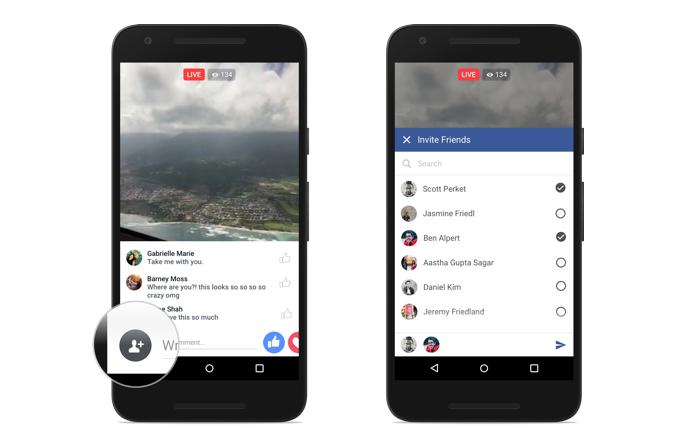 Convide amigos para assistir vídeos ao vivo com você (Foto: Divulgação/Facebook)