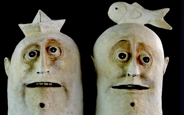 Bonecos do espetáculo 'Um Estranho Com Asas' (Foto: Divulgação)