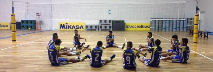 Seleção piauiense juvenil de vôlei (Foto: Leilson Oliveira/Arquivo Pessoal)