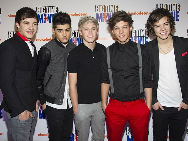 Os integrantes do grupo britânico One Direction, formado no programa The X-Factor (Foto: Charles Sykes/AP Photo)