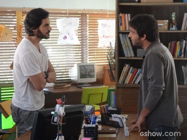 Clima pesado! Herval e Davi discutem feio por conta do concurso Geração Brasil (Foto: Geração Brasil/TV Globo)