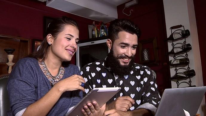 Os consultores Rafaella Vieira e Alisson Vicky escolheram os participantes do novo quadro (Foto: TV Sergipe)