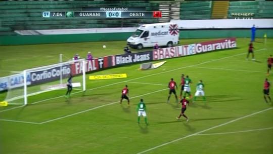 Guarani e Oeste fazem ótimo jogo, mas ficam no empate sem gols em Campinas