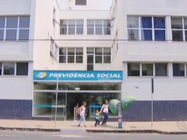 Agência do INSS em Uberlândia (Foto: Reprodução/TV Integração)