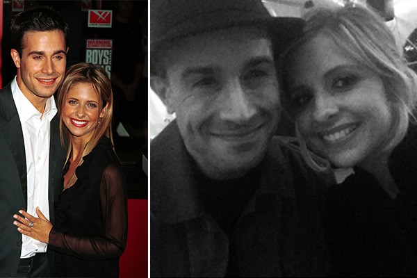 Sarah Michelle Gellar e Freddie Prinze Jr. (Foto: Getty Images e Twitter)