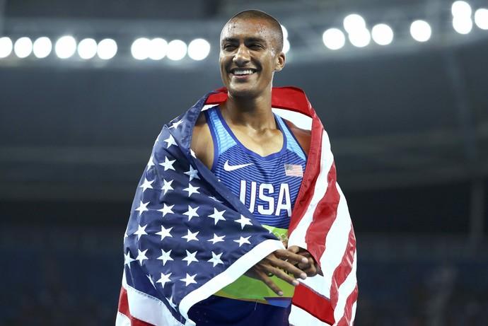 Super-homem, americano é bi do decatlo e iguala o recorde olímpico (Foto: Reuters/Lucy Nicholson)