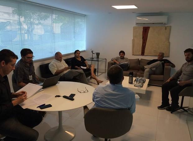 Debate inter TV (Foto: Reprodução/Inter TV Cabugi)