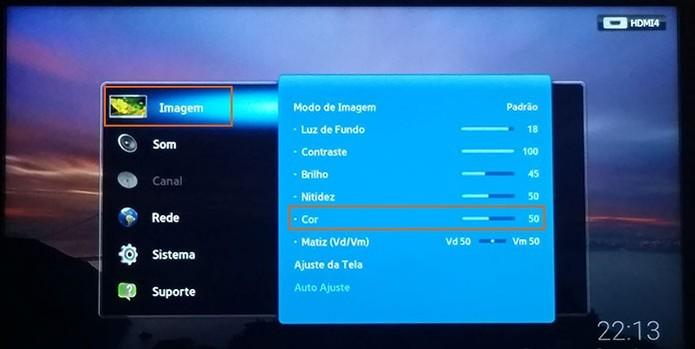 Faça ajustes nas configurações da sua TV (Foto: Reprodução/Barbara Mannara)