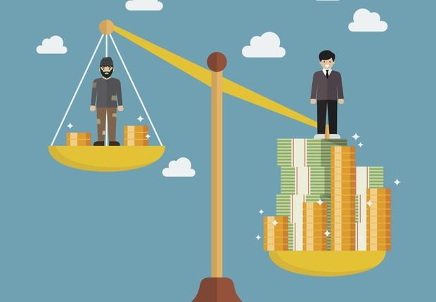 desigualdade de renda, desequilíbrio  (Foto: Thinkstock)