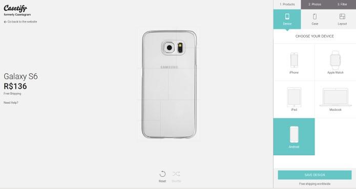Capinha personalizável para Galaxy S6 (Foto: Divulgação/Casetify)