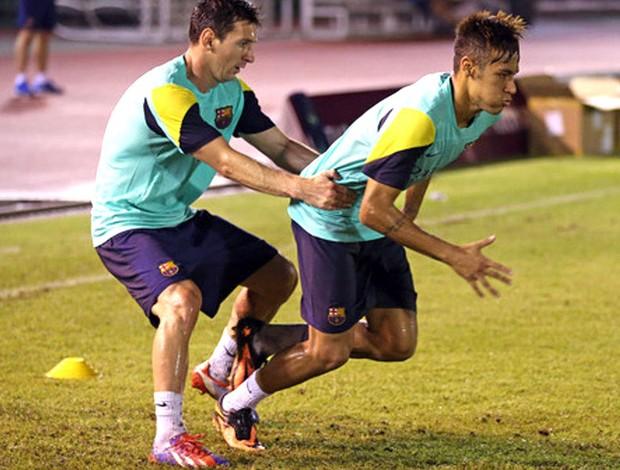 Neymar e Messi Barcelona (Foto: Miguel Ruiz / FCB)