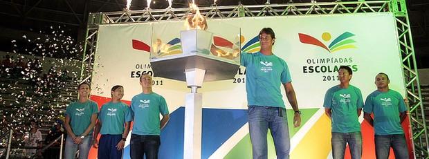 Cerimônia de Abertura das Olimpíadas Escolares 2011 em João Pessoa na Paraíba  (Foto: Divulgação/COB)