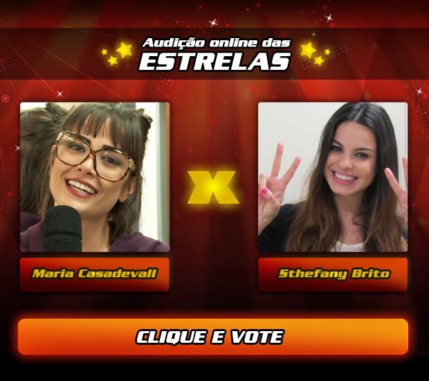 Vote na Audição Online das Estrelas - Maria Casadevall X Sthefany Brito (Foto: The Voice Brasil/  TV Globo)