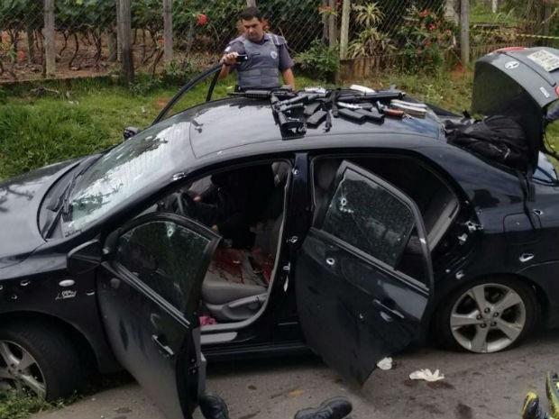 Tiroteio entre policiais e grupo que roubou banco de Itupeva deixa mortos  (Foto: Divulgação/ GM de Jundiaí)
