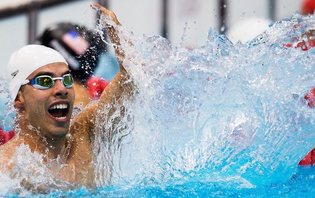 Daniel Dias vibra ao conquistar o primeiro ouro do Brasil em Londres (Foto: Buda Mendes / CPB)