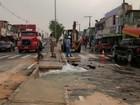 Adutora rompe e deixa moradores do Jorge Teixeira sem água, em Manaus