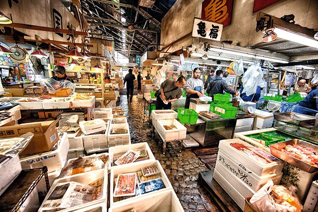 At the Tsukiji Fish Market. (Foto: Alexandra Forbes)