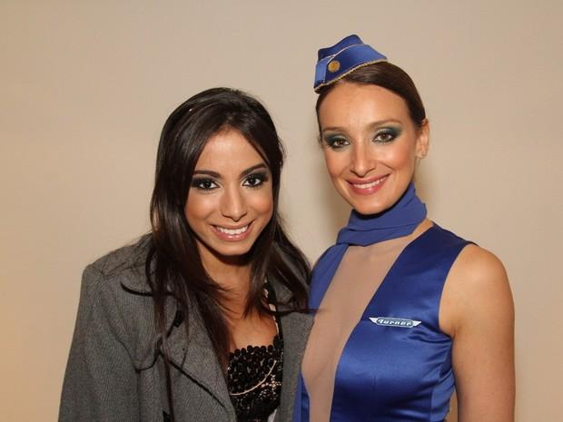 Anitta e Sabrina Parlatore em evento em São Paulo (Foto: Thiago Duran/ Ag. News)