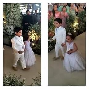 Casamento Wesley Safadão e Thyane - Yhudy e Ysis (Foto: Instagram / Reprodução)