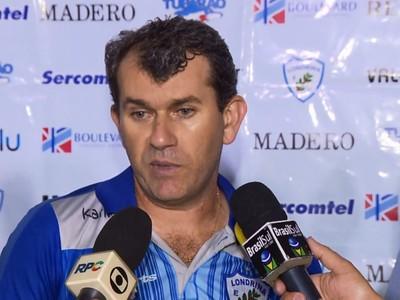 Técnico Claudio Tencati do Londrina (Foto: Reprodução/RPC TV)