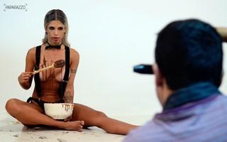 making of - Cacau Colucci posa para o Paparazzo (Foto: Roberto Teixeira / Paparazzo)