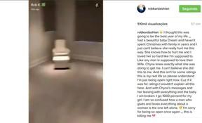 Rob Kardashian mostra quarto vazio (Foto: reprodução/instagram)