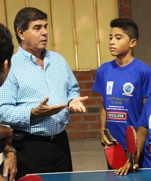 Aloé Azevedo, presidente da Confederação Brasileira de Tênis de Mesa (Foto: Emanuele Madeira)