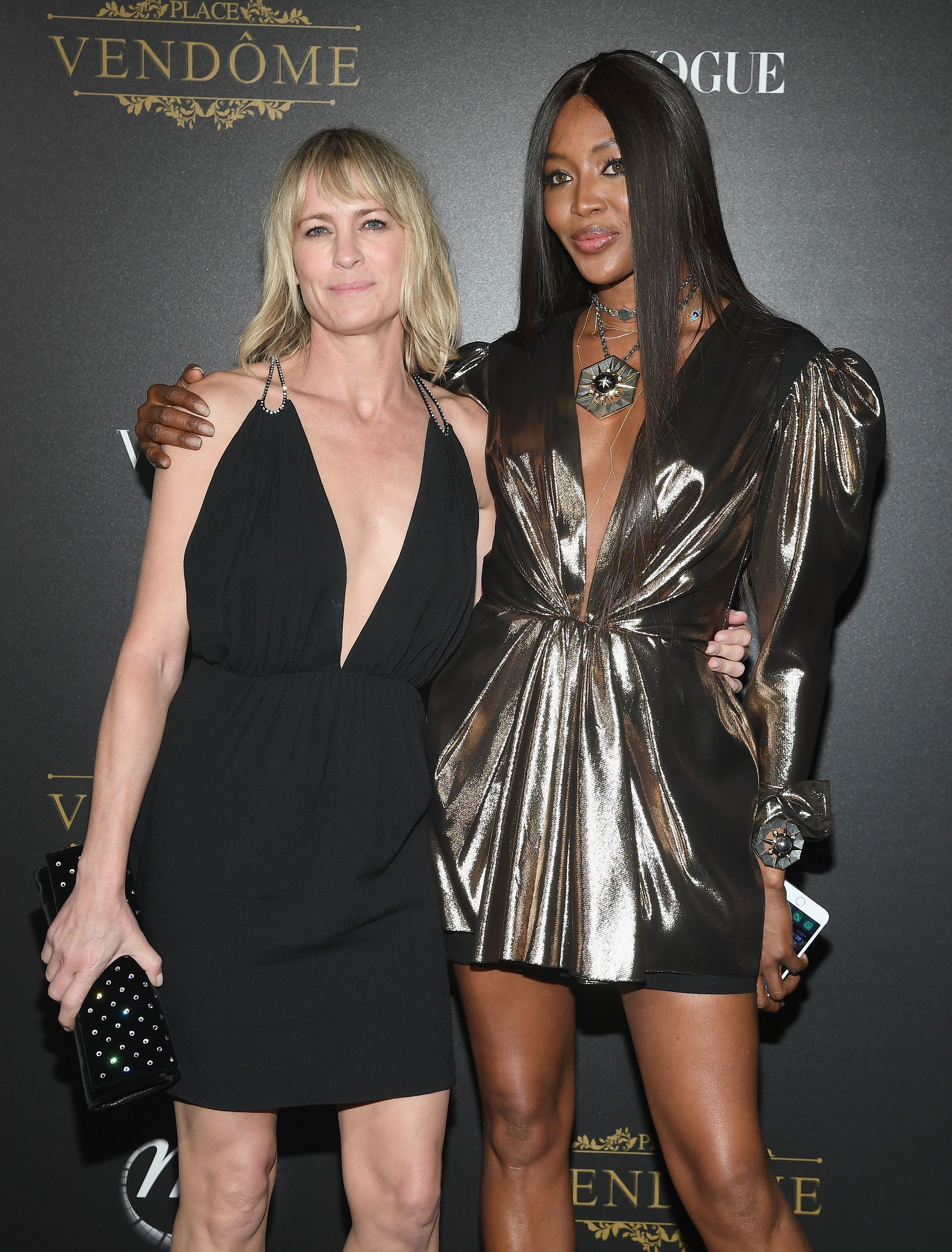 Robin Wright e Naomi Campbell na festa Vogue Paris x Irving Penn (Foto: Pascal Le Segretain/Getty Images)