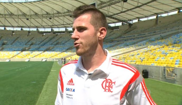 Paulo Victor do Flamengo é o titular do gol rubro-negro (Foto: Reprodução TV Globo)