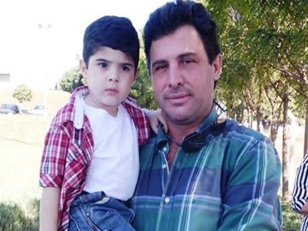 Lucas e o filho João Lucas. Rio Preto  (Foto: Arquivo pessoal)