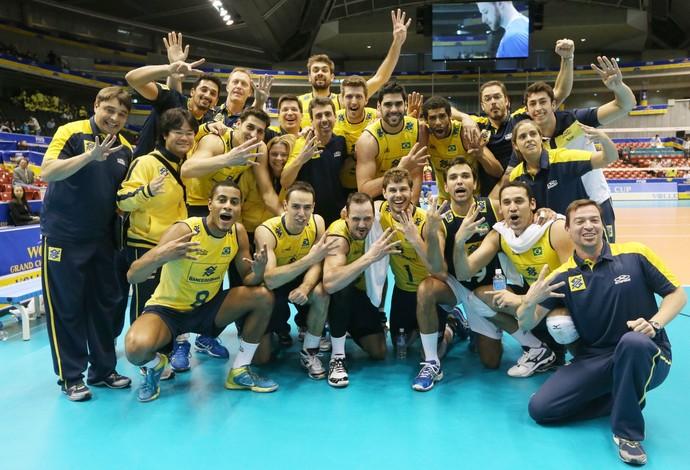 Seleção brasileira de vôlei Copa dos Campeões Brasil x Itália (Foto: Divulgação / FIVB)