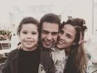 Wanessa posta foto com o filho, José Marcus, e o pai, Zezé Di Camargo