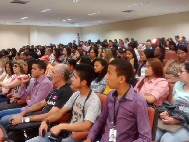 Audiência de instrução do trio acusado de canibalismo, em Garanhuns (Foto: Kamylla Lima/ G1)
