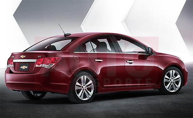 Projeção revela retoques no Chevrolet Cruze (Foto: João Kleber Amaral/Autoesporte)
