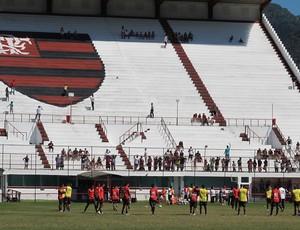 Arquibancada treino Flamengo (Foto: Richard Souza / Globoesporte.com)