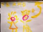 Filha de Tania Khalil faz desenho para o avô: 'Jairzão, estrela mais brilhante'