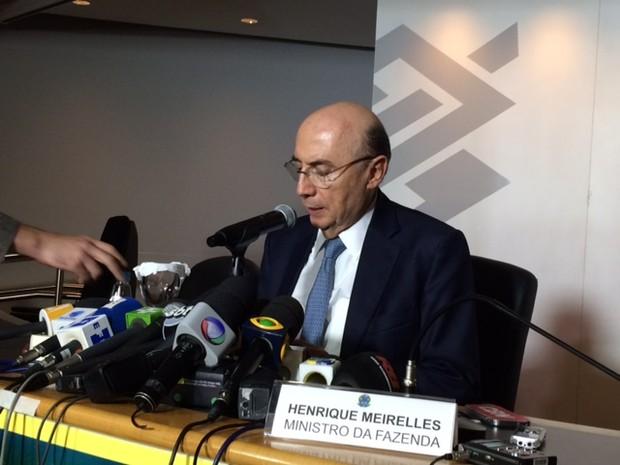 O Ministro da Fazenda, Henrique Meirelles, durante evento em São Paulo nesta sexta-feira (19) (Foto: Karina Trevizan/G1)