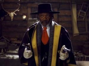 Samuel L. Jackson em cena de 'Os oito odiados', de Quentin Tarantino