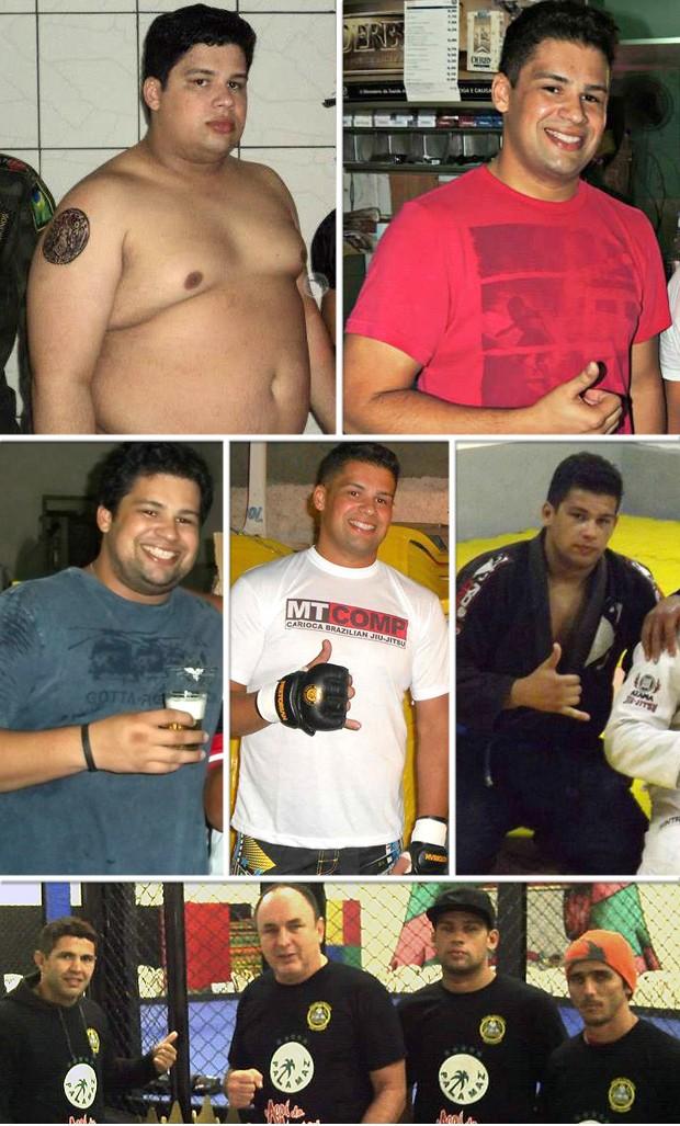montagem Wanderson Pinheiro Eu Atleta Antes e Depois (Foto: Editoria de Arte)