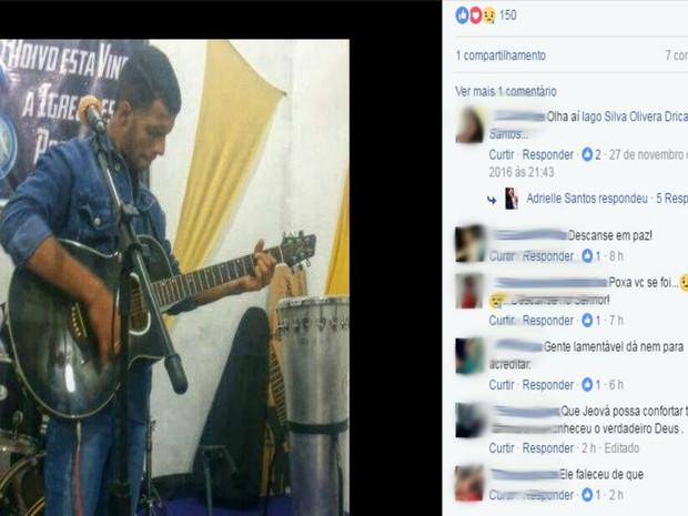 Canto usou redes sociais para informar que passaria a cantar apenas música gospel  (Foto: Reprodução / Facebook)