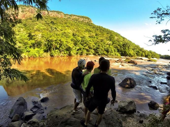 Trecho do rio Aquidauana onde serão disputadas as provas da Copa Brasil (Foto: Arquivo pessoal/Rafael Girotto)