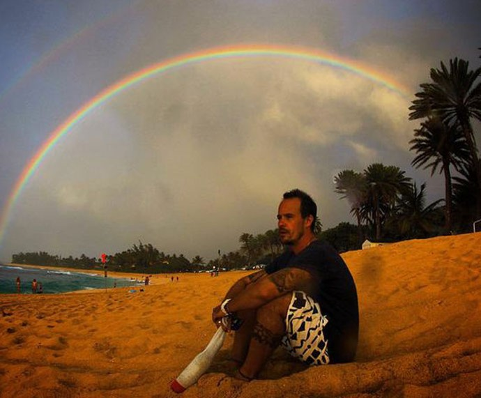 Paulinho Vilhena em momento de pausa do trabalho (Foto: Arquivo pessoal)