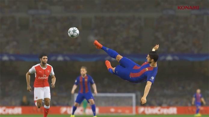 Luis Suarez também ganha destaque em PES 2017 no trailer do Barcelona com Messi e Neymar (Foto: Reprodução/YouTube)